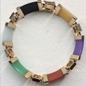 Vintage Multi-Colored Jade Bracelet